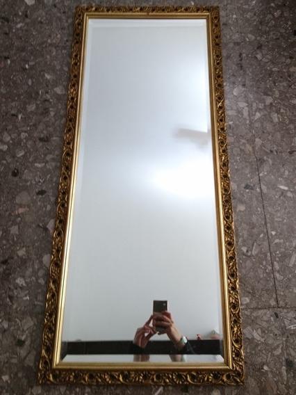 Antiguo Gran Espejo, Marco Frances Tallado Madera Biselado