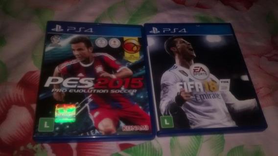 Dois Jogos Ps4 Fifa 18 E Ps 2015