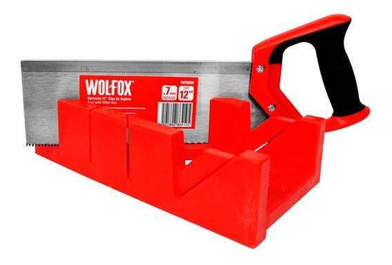 Caja De Inglete Con Serrucho 12 Pulgadas Wf0609 Wolfox