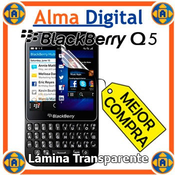 2x1 Lamina Protector Pantalla Transparente Blackberry Q5 Bb