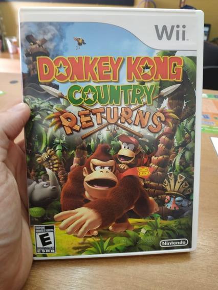 Jogo Donkey Kong Returns Para Nintendo Wii Zerado Completo