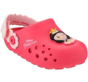 Babuche Infantil Disney Branca De Neve Rosa Grendene Clique+