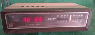 Rádio Relógio Antigo Semp Modelo Rr-1005