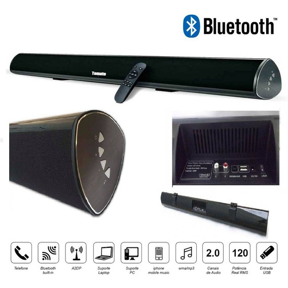 Home Theater - Garantia! Soundbar 120w Rms, Bluetooth