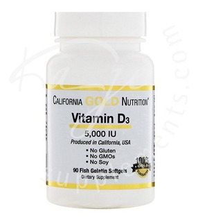 California Gold Vitamina D3 5000 Iu 125mcg 90 Softgels