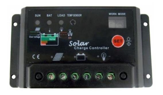 Controlador De Carga Painel Solar 10 Amperes 10a Resistente
