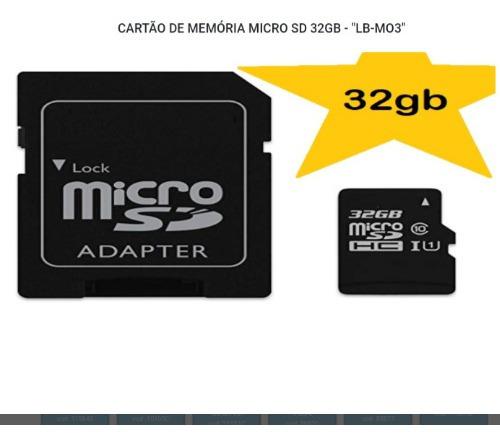Cartão De Memória Micro Sd32gb Novo E Original Com Garantia