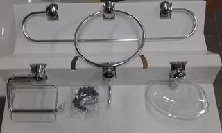 Kit Accesorio Para Baño Set De 5 Piezas Cromo