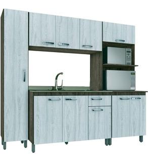 Cozinha Completa Móveis Sul 10 Portas 1 Gaveta 4 Peças Mdp