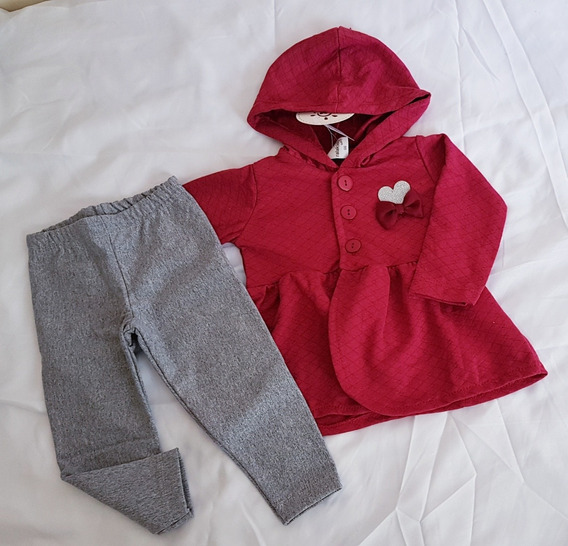 Roupa Para Bebê Menina Conjunto Frio Com Casaquinho G