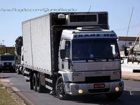 Ford Cargo 2428 Frigorifico Com Gancheiras - Trabalhando