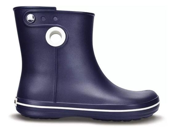 Botas De Lluvia Mujer Crocs Originales Azul Jaunt Shorty