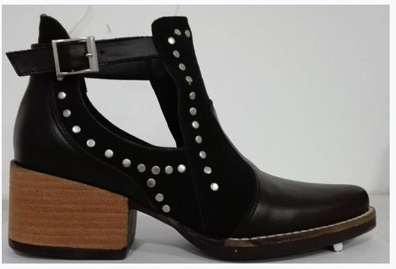 Texana Zapatos Abiertas De Cuero