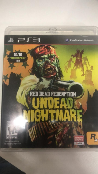Red Dead Redemption Undead Nightmare Ps3 Mídia Física