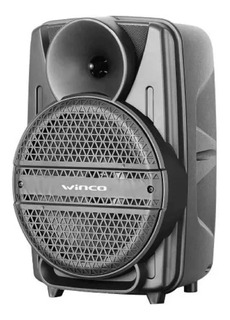 Parlante Bluetooth Con Batería Winco Luz Luces Led Karaoke
