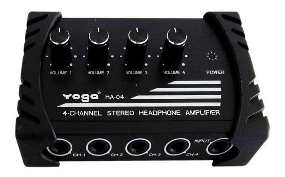Amplificador Para Fone De Ouvidos Yoga Ha-04 4 Canais