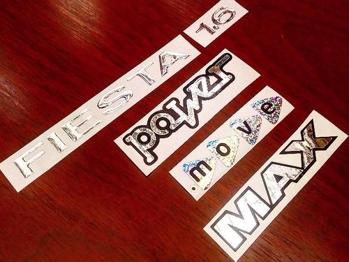 Kit Emblema Fiesta + 1.6 + Calcomania (move, Max O Power)