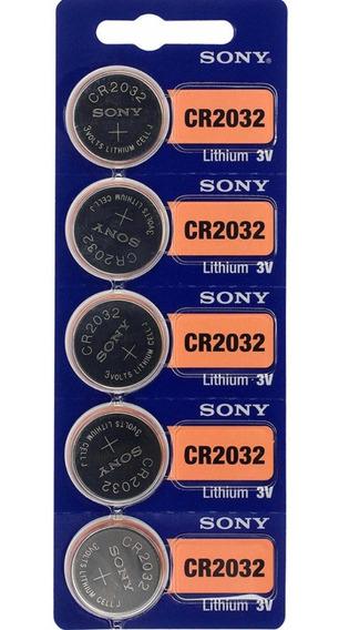 Bateria Sony Cr 2032 3v Lithium Cartela 5 Unidades