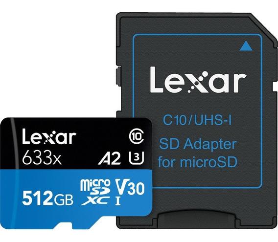 Cartão Micro Sd 512gb Lexar 633x