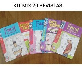Kit Mix 20 Palavras Cruzadas E Caça Palavras/ Fácil
