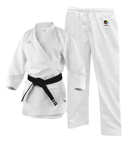 Kimono Karatê adidas Adizero Branco Wkf Aprroved