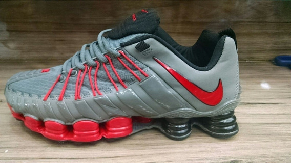 Tenis Nike Shox Premium Cinza E Vermelho Nº37 Ao 43 Original