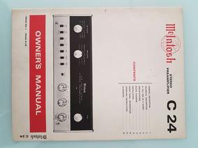 Mcintosh Stero Preamplifier C 24 Manual - Frete Grátis