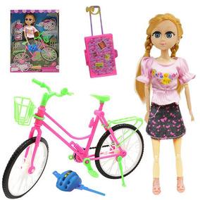 Boneca Beauty Bicicleta Brinquedo Infantil Menina Acessorios