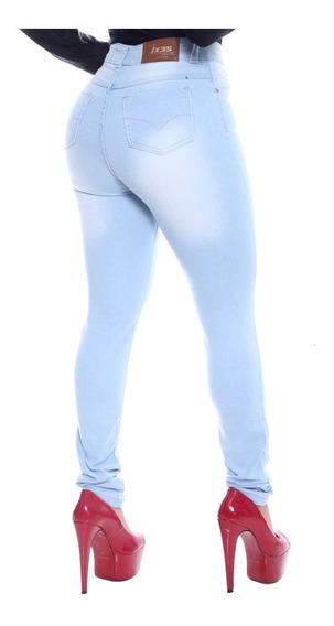 Calça Jeans Cintura Alta Strech Lycra Cós Alto Cintura Alta