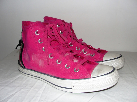 Converse Chuck Taylor All Star Hi Fucsia Y Negro Talle 38