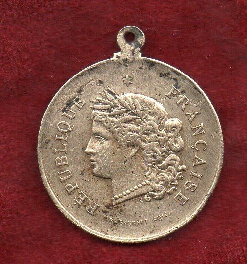 Medalla - M - Francia - Revolución - Bastilla - 1881