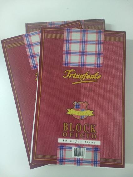 Block Hojas Triunfante Oficio 80 Hojas Pack De X5 Unidades