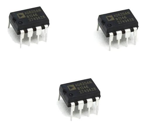 3 Pza Amplificador De Instrumentación Ad620 Ad620an