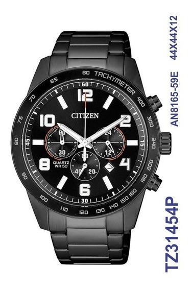 Relógio Citizen Masculino Cronografo Tz31454p Preto Aço