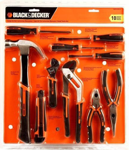 Juego De Herramientas 10 Piezas Black And Decker Hdt51-910 Black + Decker Hdt51-910-la