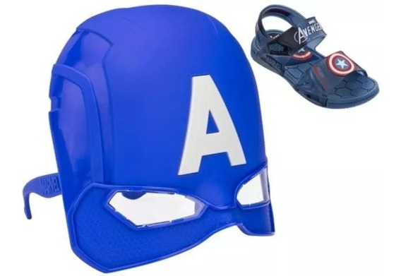 Sandália Infantil Marvel Hero Glasses Masculino Grendene Kid