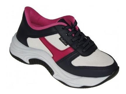 Tênis Infantil Sneaker Robusto Pink Cats Napa V0251