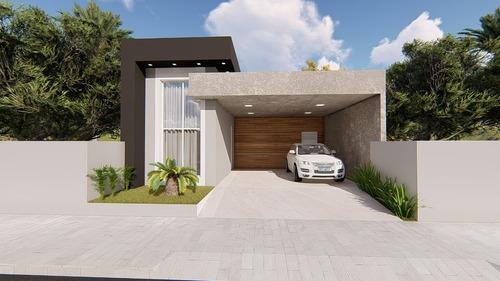 Imagem 1 de 6 de Planta De Casa 4 Quartos - Projeto Arquitetônico Completo