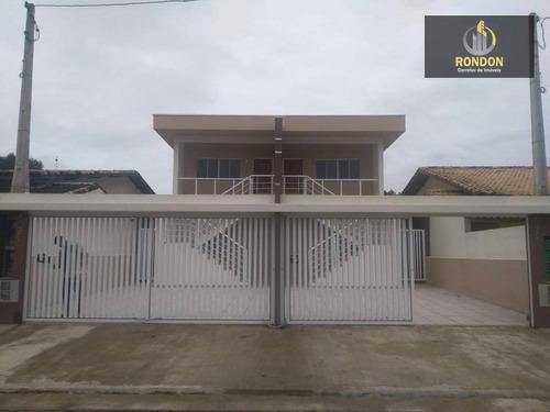 Casa Com 2 Dormitórios À Venda Por R$ 165.000 - Balneário Tropical - Itanhaém/sp - Ca1168