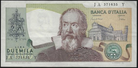 Italia, 2000 Lire, 1983. P#103c. Galileo Galilei. Xf