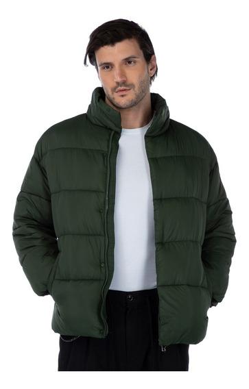 Jaqueta Masculina Puffer Inverno Nylon Verde Militar Mizu