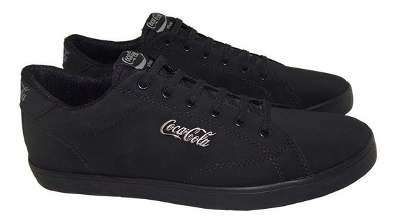 Tênis Cocacola Masculino United Easy All Black Preto Cc1558