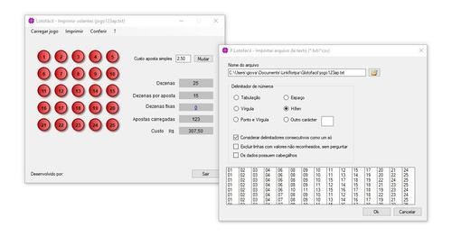 Aplicativo Impressão Lotofácil. Volantes A4 Online Na Caixa