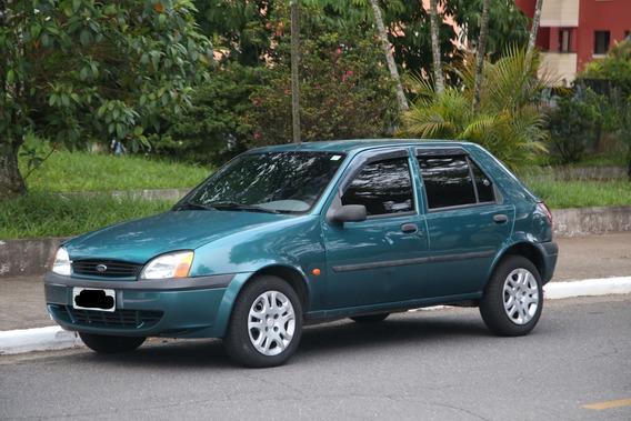 Ford Fiesta Glx Motor 1.6 Ano 2000 Verde 4 Portas Completo