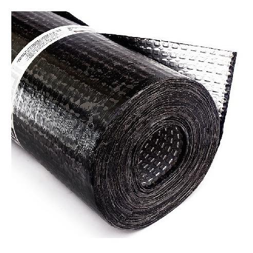 Manto Aluminizado Asfaltico Cindu Rollo 10mts Manto 2.5mm