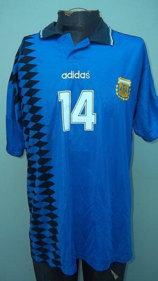 Camiseta De La Sel. Argentina # 14 Simeone Año 1994 Talle 4