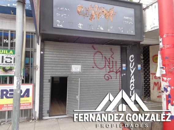 Alquiler Local Comercial En Banfield Centro 3x12. Deposito