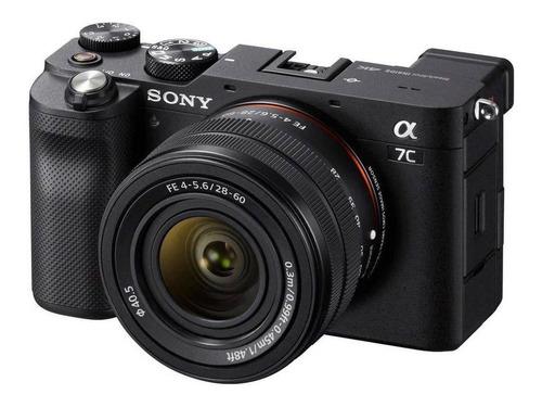 Imagen 1 de 4 de Sony Kit Alpha 7C + lente SEL2860 compacta avanzada color  negro