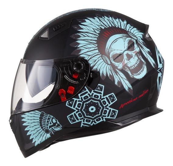 Capacete Moto Shiro Sh-881 Sv American Native Viseira Solar