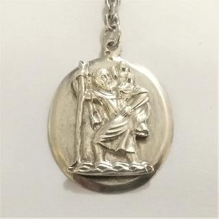 Chaveiro São Cristóvão Em Prata Maciça 925